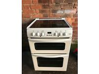 White ceramic halogen electric cooker belling 60cm