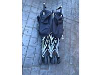 Silver Cross duo pop double pushchair used twins