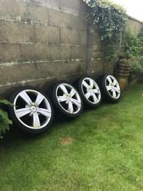 "TSW 17"" Alloy Wheels / tyres and nuts etc"