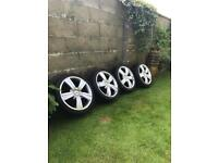 """TSW 17"""" Alloy Wheels / tyres and nuts etc"""