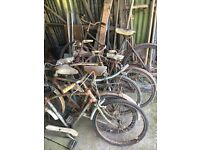 7 x old barn find bicycles for sale