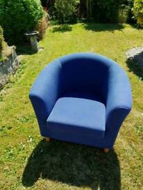 Blue tub chair Sofa