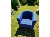 Blue tub chair Sofa