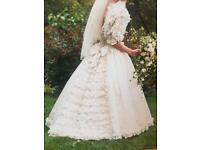 Vintage wedding ball gown dress (pure silk)