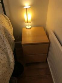 Birch Ikea malm bedside table - great condition