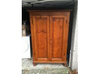 Antique Solid Wood Italian made Wardrobe/Cupboard with Shelving. Kitchen, Bedroom, Living room