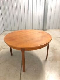 FREE DELIVERY Vintage Mid Century 1960s Teak Circular Extending Dining Table Like G Plan McIntosh