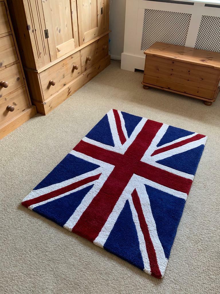 Union Jack Rug Ae 100 Wool Hand Made Tufted In Teddington London Gumtree