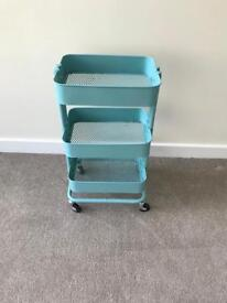 Kitchen/bar trolly turquoise blue