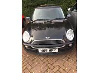 MINI One 2001 1.6 Black SPARES OR REPAIRS. NEEDS CLUTCH