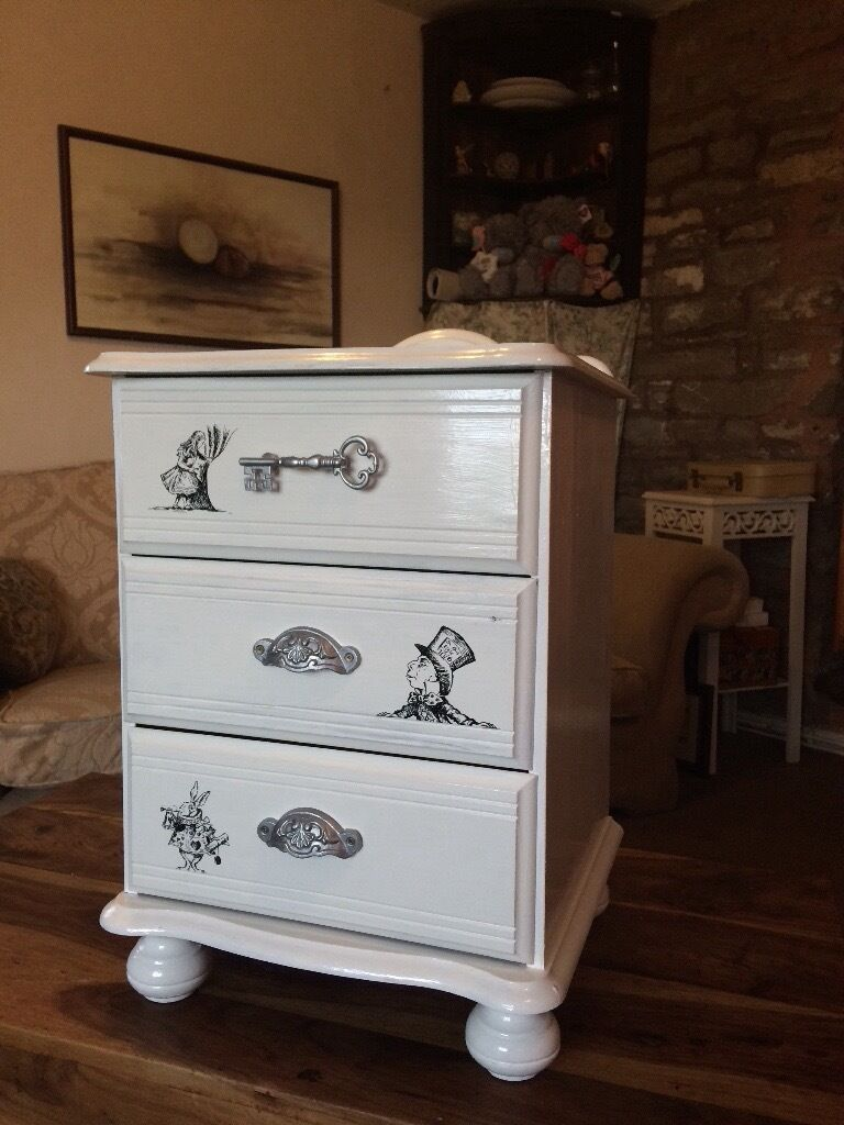 alice in wonderland furniture.  alice alice in wonderland hand painted not transfers small bedside  cabinetchest of drawers inside in wonderland furniture o