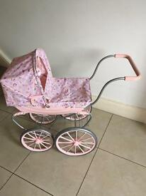 Dolls pram baby annabell pink pram
