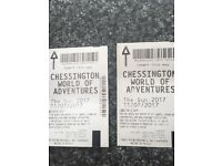 2 tickets for chessington world of adventures 11/7/17