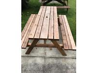 Picnic Bench, treated wood