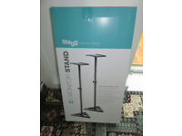 Brand New! Stagg SM0S-10 Studio Monitor Stands (x2)