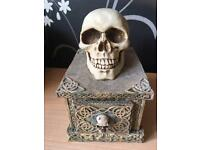 Skull tattoo storage containers ornaments