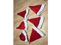6 Santa Claus hats - used once