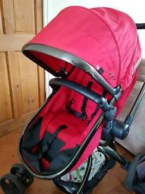 Mothercare Orb pram/pushchair - red
