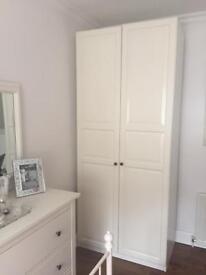 Large double wardrobe & bedside cabinet - Ikea Hemnes range