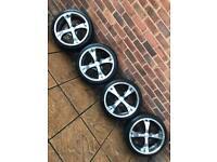 "4x100 17"" alloy wheels Vw Honda Mini Cooper S Vauxhall Corsa Fiat Clio"