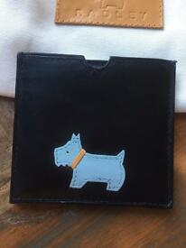 Radley pocket mirror, leather case and dust bag