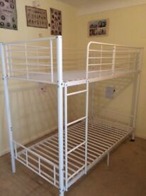 bunk bed in good condition already taken apart buyer collects, mattresses not included