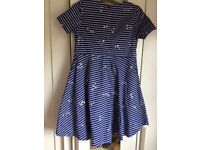 Joules girls dress, age 8 not worn but tag removed.