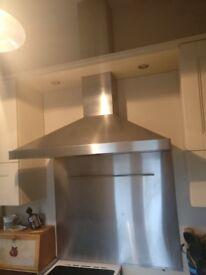 SMEG chimney cooker hood / extractor with splashback