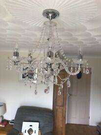 Elec Lightening Glass effect chandelier