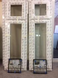 Brand new windows, bevelled glass, size 495 x 1585 with sills £150 each.