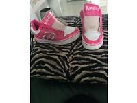 Pink 'heelys'