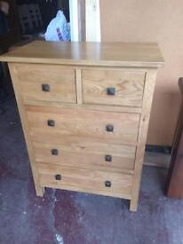 Solid oak chest of drawers many kinds reduced