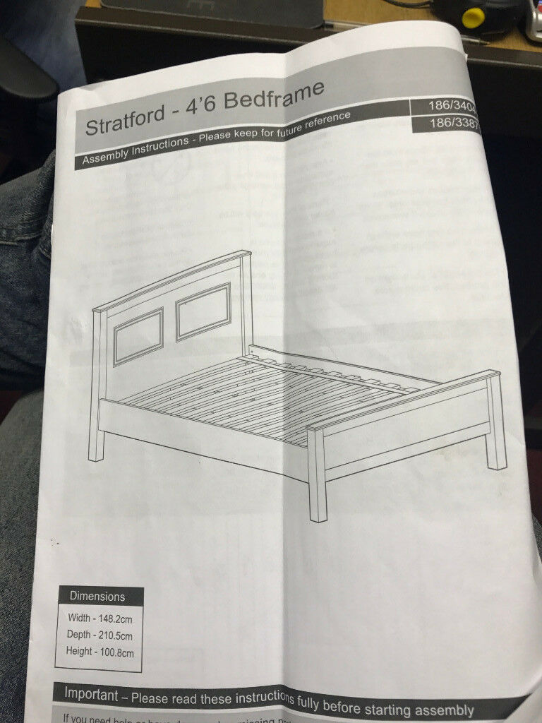 Collection Stratford Double bed frame - White