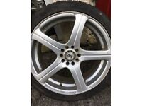 set of alloy wheels, will fit ford, Vauxhall