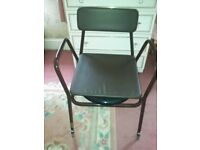 Commode chair. Excellent condition. Removable white pan.Hardly used.