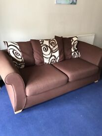 2 x 3 seater sofas.... 1 is leather and the other cloth