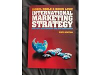 International Marketing strategy textbook for sale!
