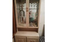 Limed oak cabinet