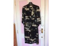 New - women Viyella jacket and matching dress, black mix, UK size 8