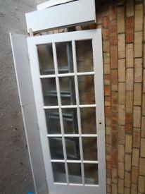 15 pane glass panel door