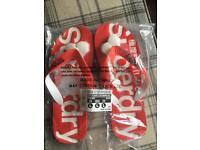 Superdry flip flops-poppy red