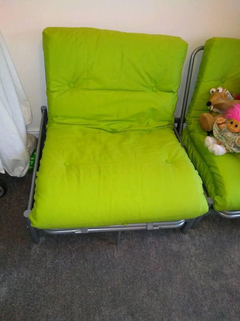 Single Metal Futon Sofa Bed