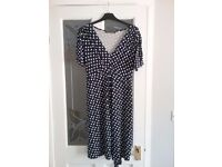 Heart patterned mothercare maternity dress size 14