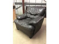 Designer Armchair, 100% Real Leather Comfortable Ready For A New Home (Dimensions in Description)