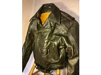 E.S.P Large Leather Motorcycle Jacket