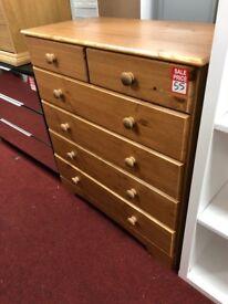 2+4 drawer nordic dark chest