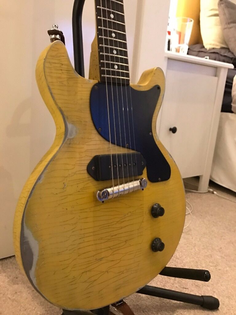 Loic Lepape Aged Les Paul Junior Doublecut Tv Yellow In