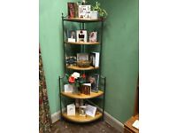 Pine corner unit, made by Ducal 4 shelves also called a what not