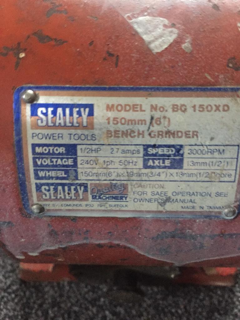 Sealey bench grinder
