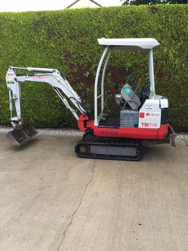 Takeuchi TB014 Mini Digger/Excavator 2007 1.5 tonne £6625.00 + vat